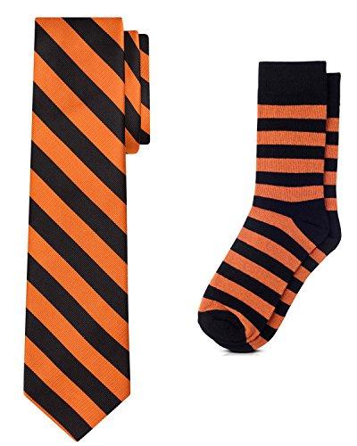 orange and black dress - 5