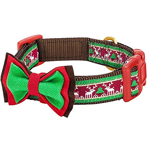 Blueberry Christmas Festival Dog Collar With Bowtie