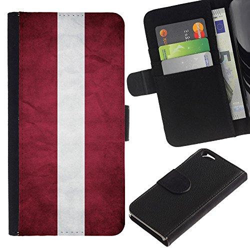 EuroCase - Apple Iphone 6 4.7 - Latvia - Cuir PU Coverture Shell Armure Coque Coq Cas Etui Housse Case Cover