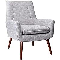 Adesso GR2001-03 Addison Chair, Light Grey