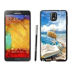 NEW Unique Custom Designed Iphone 5/5S Phone Case With Summer Beach Book Seashells Sea Stars_Black Phone Case