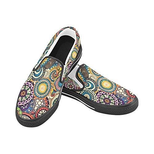 Unique Debora Mode Personnalisé Baskets Femmes Inhabituelles Mocassins Slip-on Chaussures De Toile Multicoloured11