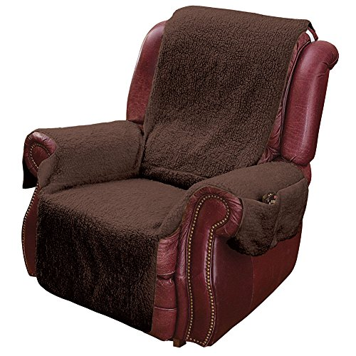 Brown Recliner Chair Slip Covers Arm Cover With Pockets Protector Sofa  Slipcover