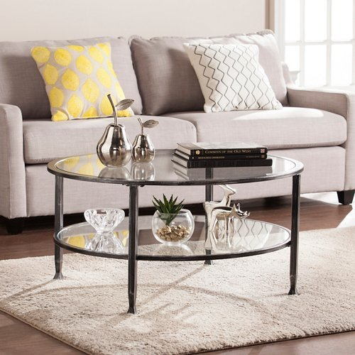 black and silver coffee table - 9