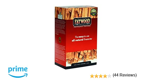 amazoncom fatwood firestarter 005 cubic feet fatwood for fireplace in color box 2pound fire starters patio lawn u0026 garden - Fatwood