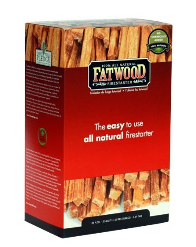 Fatwood Firestarter 9984 0.05 Cubic Feet Fatwood for Fireplace in Color Box, 2-Pound