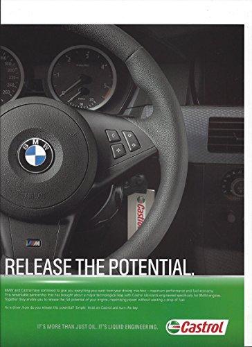 magazine-advertisement-for-castrol-oil-bmw-interior-steering-wheel-scene