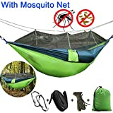 2018 Newly designed hammock with mosquito net provides 360 degree protection against mosquito bites.Double zips and precise hole design are both mosquito repellent and ventilated, hammock bug net will let you feel fresh and give you outdoor personal ...
