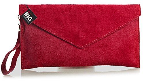 de clair Soldé Violet Soldé enveloppe LIATALIA clutch z Pochette Rouge style 'Leah' en Z italien soirée suède R5q54wn1