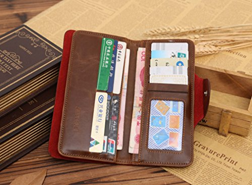 Clip Words Long Pattern Button Snap Money Printed PNBB Retro Style Mens Wallet 4x8qSw