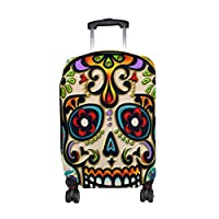 Cooper girl Art Themed Skull Travel Luggage Cover Suitcase Protector Fits 23-26 Inch