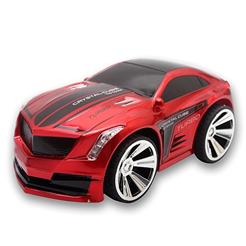 GordVE SJB68 RC Car Creative Voice-activated Smart Voice Control RC Vehicles Scratch Resistance Intelligent Commanded by Watch Voice Remote Control Car-Red
