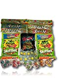 Super Sour Candy Care Package by AtHomePlus (40 Count) --Perfect Gift for College Dorm, Military or Office!!
