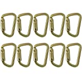 Fusion Climb Tacoma Steel Triple Lock with Key Nose Modified D-shaped High Strength Carabiner 10-Pack