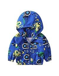 LIKESIDE Children Baby Coat Autumn Jacket Outerwear Excavator Hoodie Clothes