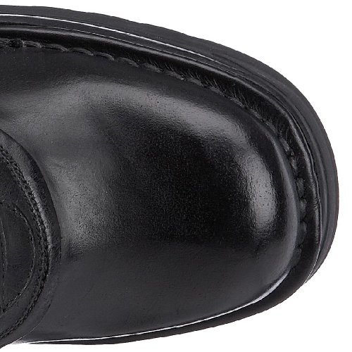 New Rock 8272-S1 - Botas de cuero para mujer Negro