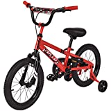 Goplus 16'' Kids Bike Bicycle, Boy's Bike and Girl's Bike w/Training Wheels, Toddler Ride, Gifts for Children (Red)