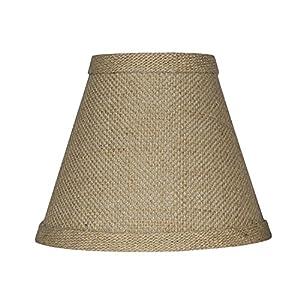 Urbanest 1100328 Chandelier Lamp Shade 6-inch, Hardback, Clip On, Burlap