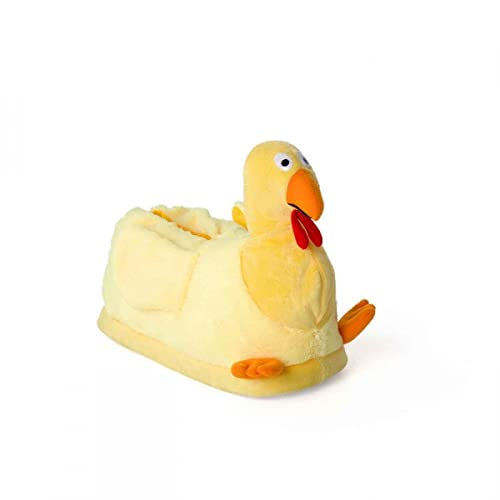 0f11b432d6b85 Funslippers Chaussons Peluche Animaux Fantaisie Taille 36-38 Poussin,  Poule, Jaune, Premium