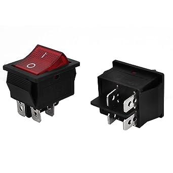 2 PC SPDT 2P de encendido / apagado de soldadura Barco Rocker interruptor de CA 250V