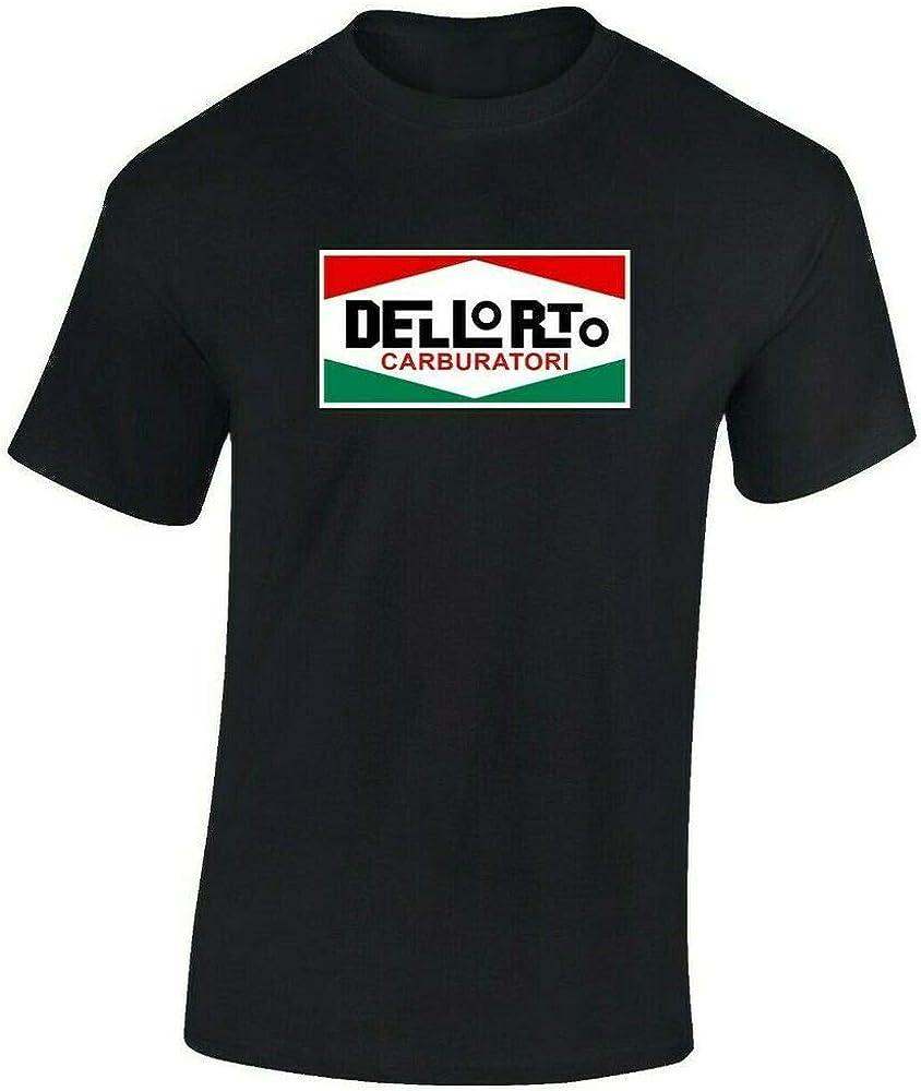 T-Shirt Men's Customization Mens Black Dellorto Tshirt Italian Scooter Retro Vespa Lambretta