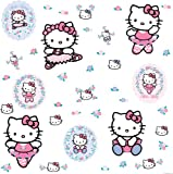 RoomMates RMK1199SCS Hello Kitty Ballet Peel & Stick Wall Decals
