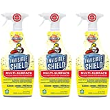 Invisible Shield Multi – Surface Cleaner, Deodorizer & Protector- 25 oz- 3 Pack by Clean-X Invisible Shield