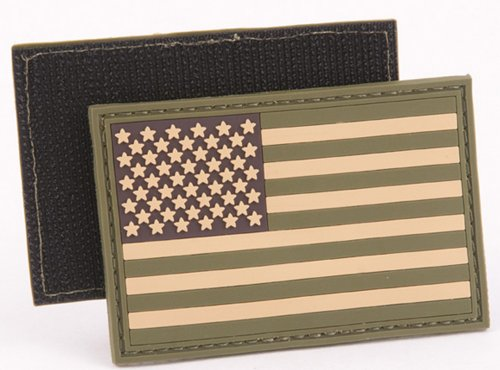 PVC Tactical USA Flag Patch - Multitan
