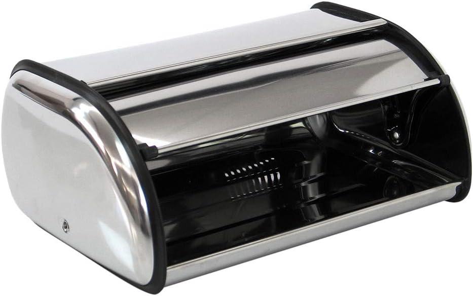 Panera de mesa clásica plateada de acero inoxidable para cocina ...