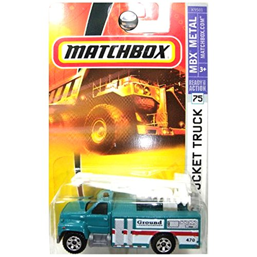 Matchbox 2007 #75 GMC Bucket Truck Green Ground Communications Utility Truck
