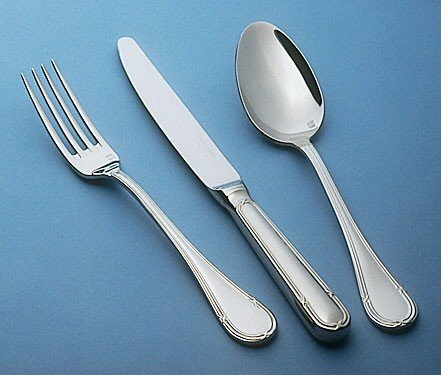 Guy Degrenne - Florencia 5 Piece Flatware Set, Stainless Steel Mirror Finish (Guy Degrenne Mirror)