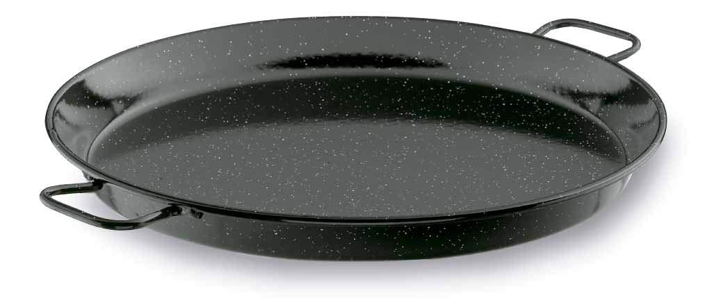 Lacor - 60151 - Paellera Esmaltada 50 cms- Negro