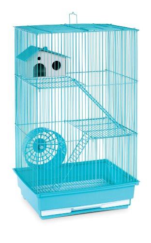 Prevue Hendryx SP2030G Three Story Hamster and Gerbil Cage, Mint - Cage Hamster Green