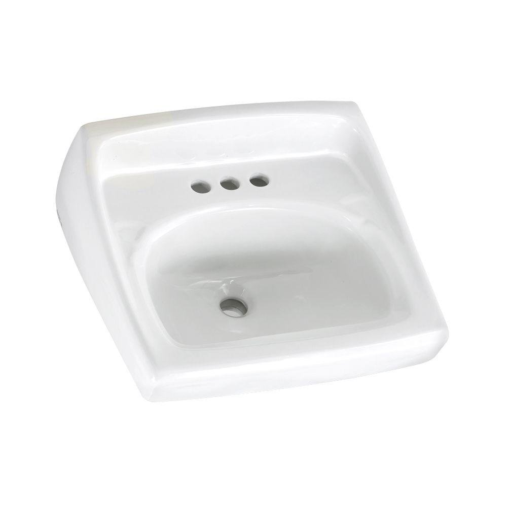 Great Amazon.com: American Standard 0355.012.020 Lucerne Wall Mount Lavatory Sink  With 4 Inch Faucet Holes, White: AMERICAN STANDARD BRANDS: Home Improvement