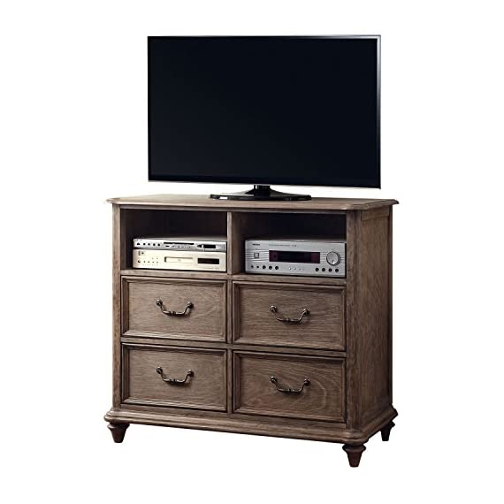 Venetian Worldwide The Althea Media Stand - Transitional Style Rustic Natural Tone Finish Solid Wood, Wood Veneer &Others - tv-stands, living-room-furniture, living-room - 51UV7SJUxlL. SS570  -