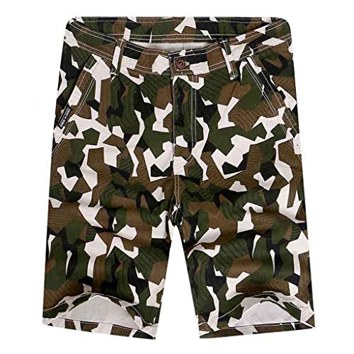 Men's Rugged Simple Outdoor Elastic Cargo Shorts, Mmnote Workout Lightweight Comfort Tactical - Outs Splendor Cut