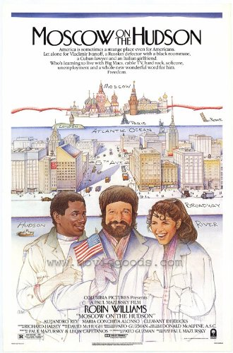 Moscow on the Hudson Poster 27x40 Robin Williams Maria Conchita Alonso Cleavant Derricks