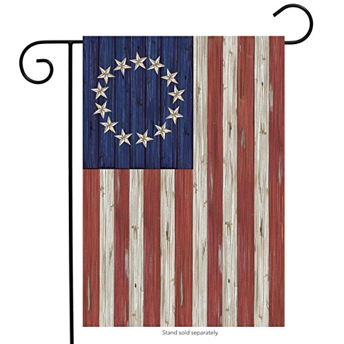 Briarwood Lane Betsy Ross Flag Patriotic Garden Flag Rustic 4th of July 12.5 x 18