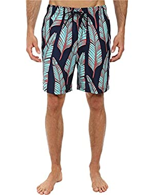 Mens Leaves Print Trunk