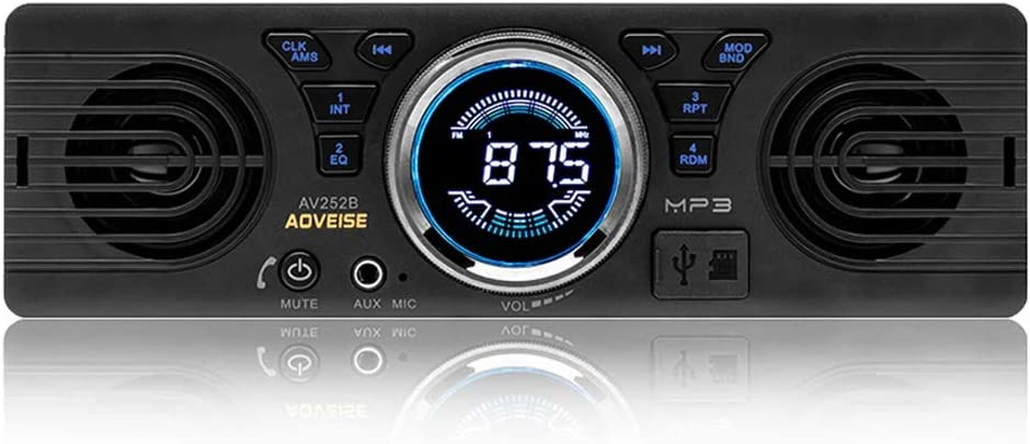 Boomboost Av252 12v Auto Sd Karte Autoradio Stereo Mp3 Radio Eingebaute Lautsprecher Mit Bluetooth Host Lautsprecher Auto