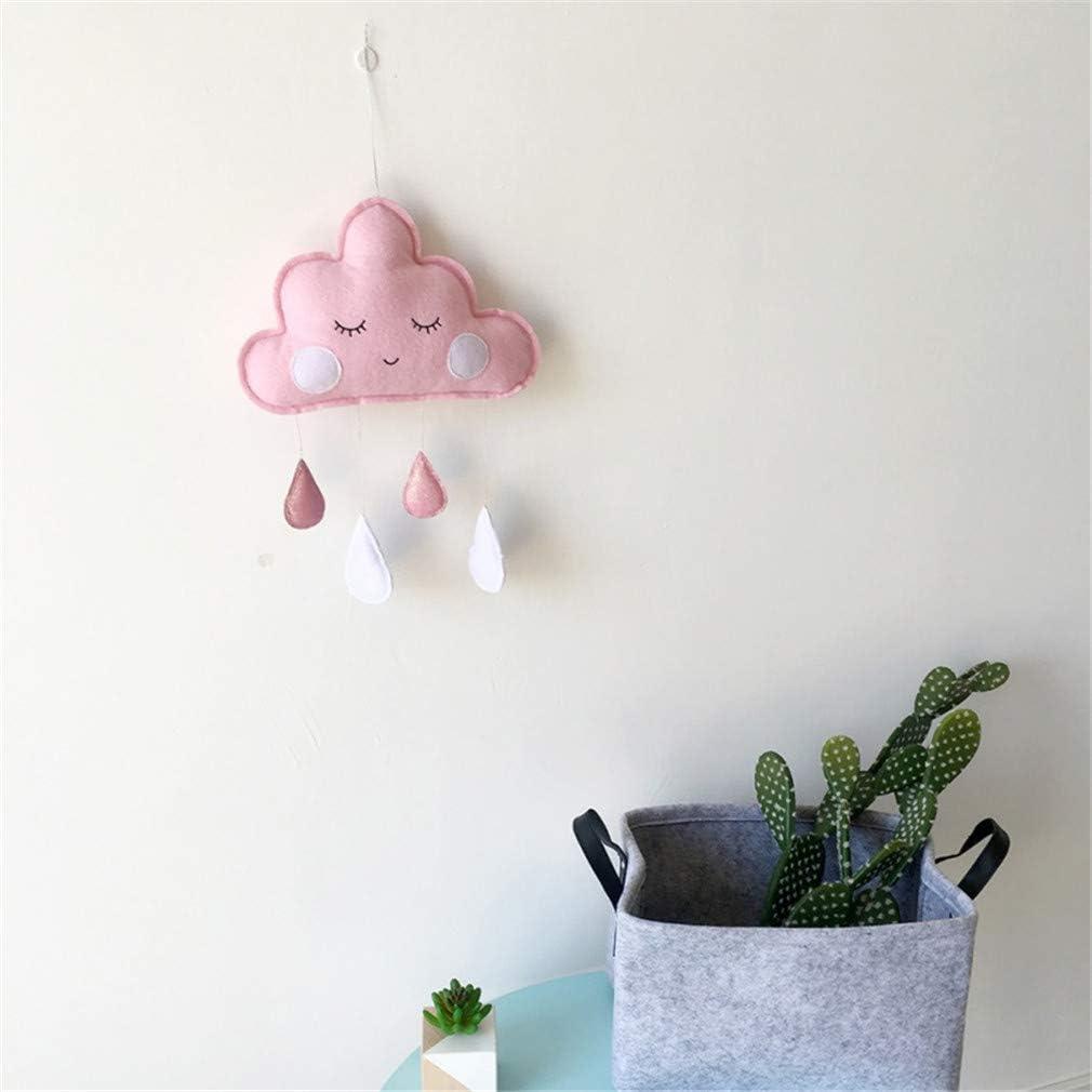 CIPOGL Nuage Goutte De Pluie Pendentifs D/écoration Suspendue Murale pour Chambre de B/éb/é Forme de Goutte de Pluie et Nuage D/éco Mignon Suspension