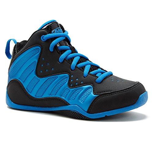 AND1 Free for All Kids Girls Boys Lace up Basketball Sneaker Shoe 7 Black/Royal - Kid Eclipse Boy Shoe