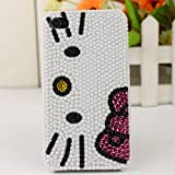 Slim Crystal iPhone Case for ATandT Verizon Apple iPhone 4/4S Pearl Hello Kitty Face, Best Gadgets