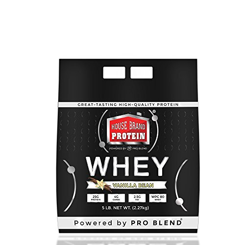 House Brand Whey Protein Powder, Vanilla Bean, 5 Pound