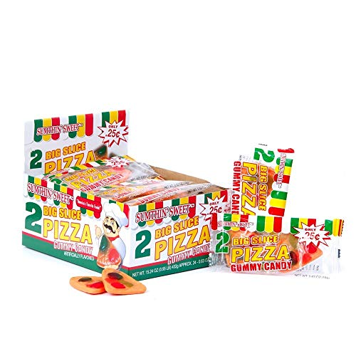 Big Slice Pizza Gummy Candy - Twin pack (Pack of 24) ()