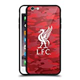 Official Liverpool Football Club Home Colourways Liver Bird Camou Black Hybrid Glass Back Case for iPhone 6 Plus/iPhone 6s Plus