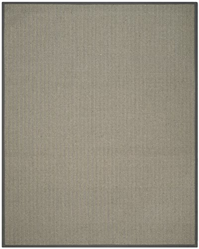 Safavieh Natural Fiber Collection NF444A Herringbone Grey Brown and Grey Sisal Area Rug (5' x (Seagrass Sisal Rug)
