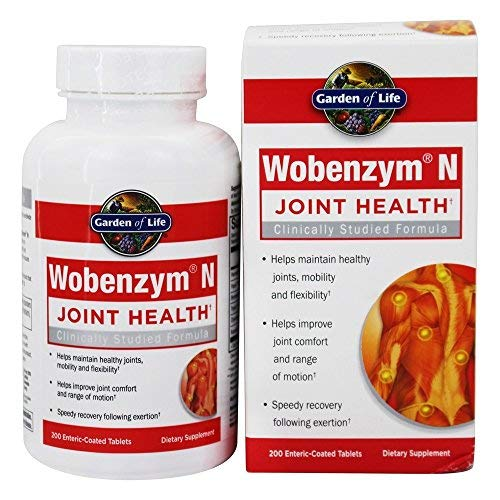 Garden of Life Wobenzym N, 200 Tablets (Wobenzym N 800 Best Price)