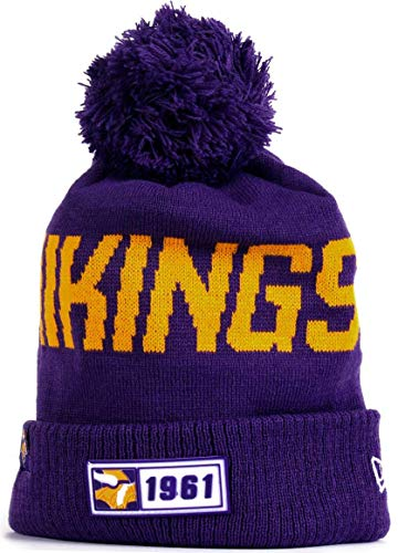 Minnesota Vikings Winter Hat (MVPRING Minnesota Vikings Sports Outdoor Cap Wool Knit Beanie for Winter Sports Hat Footbal Team Sports Team Cap 100 Commemorative Version Rubber)