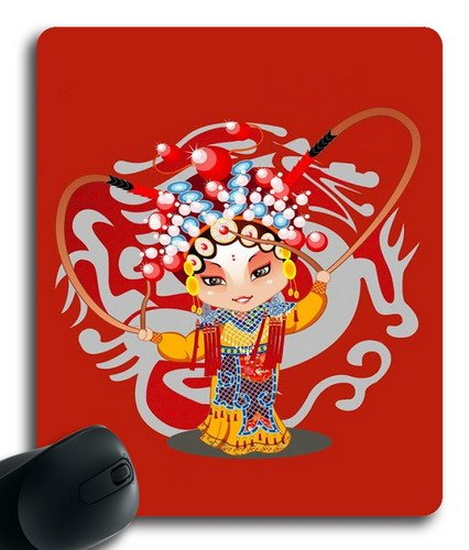 Mouse Mat,Mulan Chinese elements Office Computer Mouse Pad -